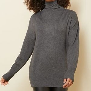 Funnel Neck Tunic Sweater